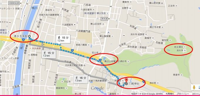 三嶋神社の行き方(地図)2
